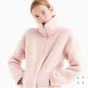 J.Crew Half Zip Sweatshirt Polartec Fleece Pink